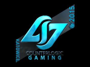 Наклейка   Counter Logic Gaming (металлическая)   ESL One Katowice 2015