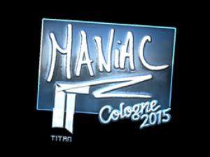 Наклейка   Maniac (металлическая)   Кёльн 2015