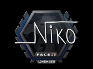 Наклейка   NiKo   Лондон 2018
