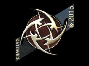 Наклейка   Ninjas in Pyjamas (металлическая)   ESL One Katowice 2015