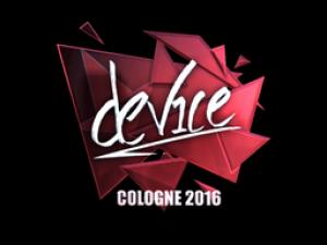 Наклейка   device (Foil)   Cologne 2016