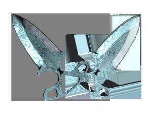 ★ Тычковые ножи   Дамасская сталь