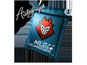 Капсула с автографом | G2 Esports | MLG Columbus 2016