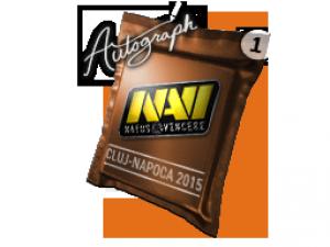 Капсула с автографом | Natus Vincere | Клуж-Напока 2015