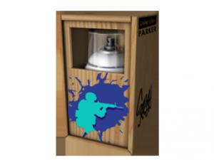 Ящик с граффити