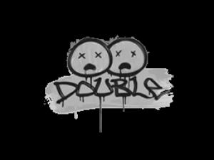 Sealed Graffiti | Double (Shark White)