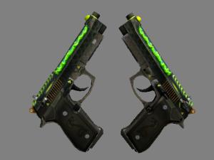 StatTrak™ Dual Berettas | Удар кобры