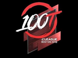 Наклейка | 100 Thieves | Бостон 2018
