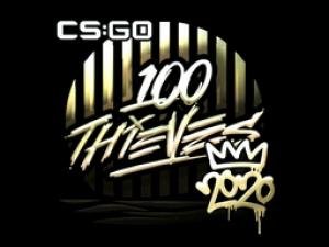 Наклейка | 100 Thieves (золотая) | РМР 2020