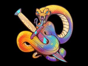 Наклейка | Змеиная атака (голографическая)