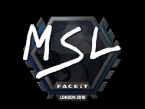 Наклейка | MSL | Лондон 2018