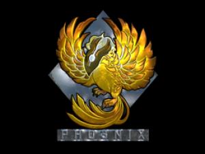 Наклейка | Феникс (металлическая)