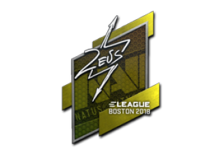 Наклейка | Zeus | Бостон 2018
