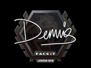 Наклейка | dennis | Лондон 2018