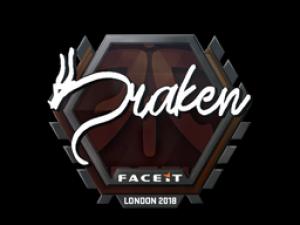 Наклейка | draken | Лондон 2018