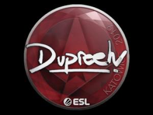 Наклейка | dupreeh | Катовице 2019 - Кейсы Дота 2