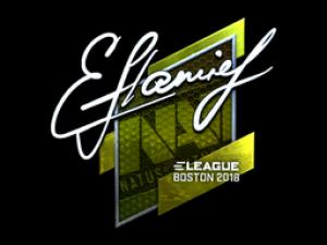 Наклейка | flamie (металлическая) | Бостон 2018