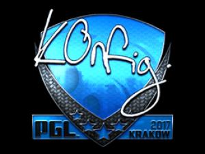 Наклейка | k0nfig (Foil) | Krakow 2017