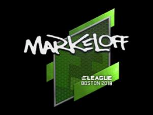 Наклейка | markeloff | Бостон 2018
