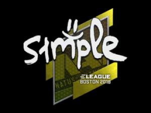 Наклейка | s1mple | Бостон 2018