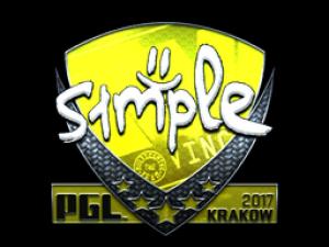 Наклейка | s1mple (Foil) | Krakow 2017