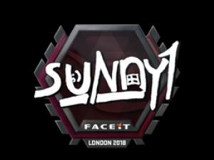 Наклейка | suNny | Лондон 2018